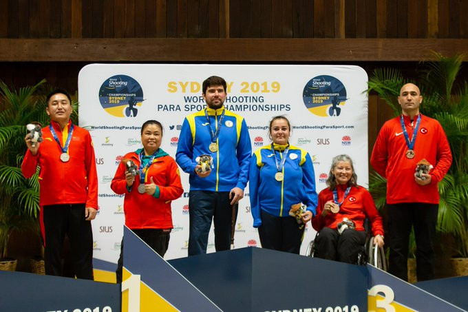 Ukraine duo claim mixed pistol gold at World Shooting Para Sport Championships