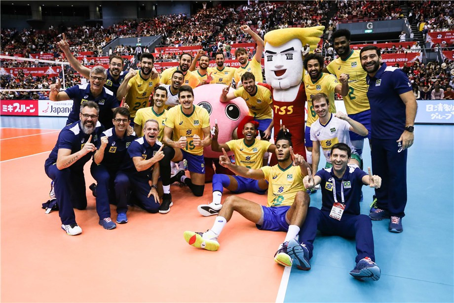 Brazil beat Japan to seal FIVB Men's World Cup