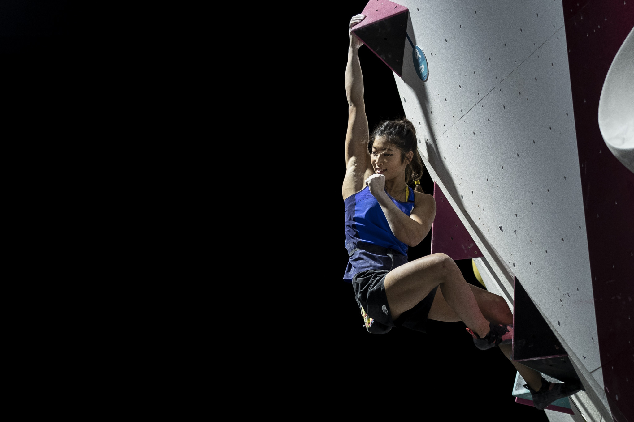 Miho Nonaka made the bouldering look easy en-route to gold ©ANOC