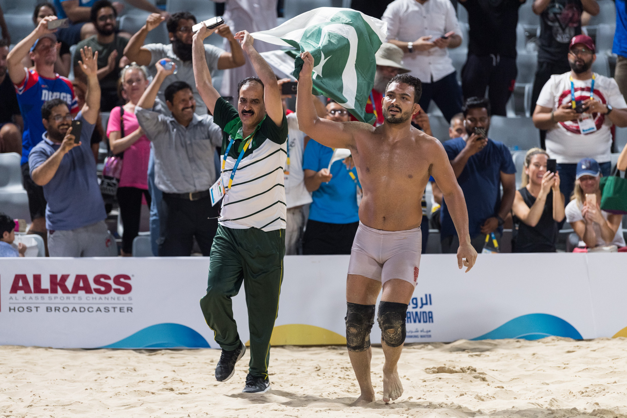 Inam succeeds in solo mission for Pakistan in ANOC World Beach Games wrestling event