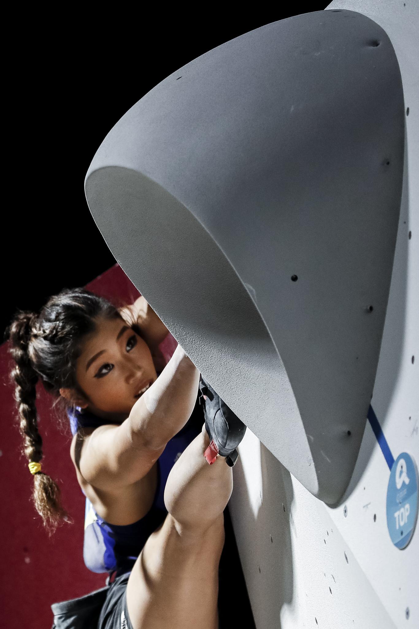 Japan's Miho Nonaka won bouldering gold at the ANOC World Beach Games ©ANOC World Beach Games