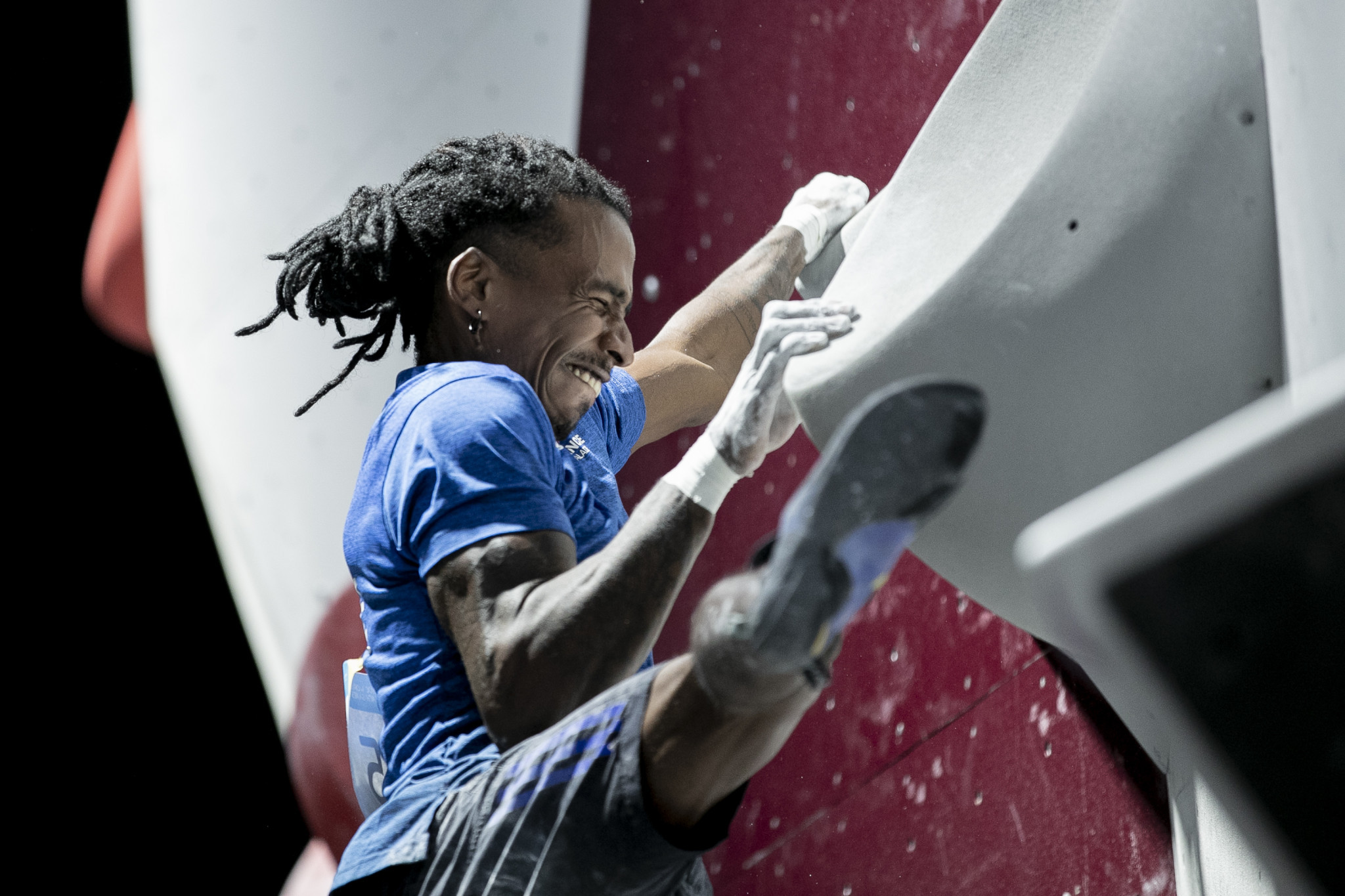 Bouldering is a sport where the potential for something to go wrong is huge ©ANOC World Beach Games