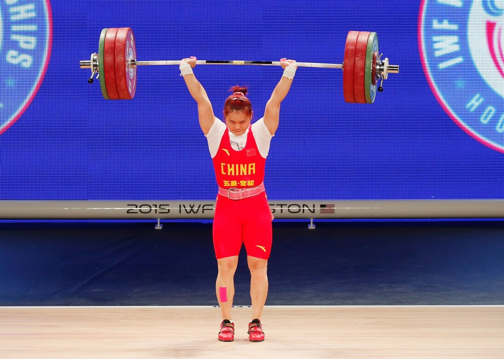China's Wei Deng claimed a clean sweep of the women's 63 kilogram gold medals and also broke the clean and jerk world record at the International Weightlifting Federation World Championships ©Getty Images