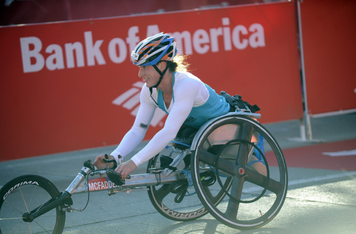 Second place in the weekend's Chicago Marathon earned United States wheelchair athlete Tatyana McFadden a sixth Paralympic appearance at Tokyo 2020 ©Getty Images