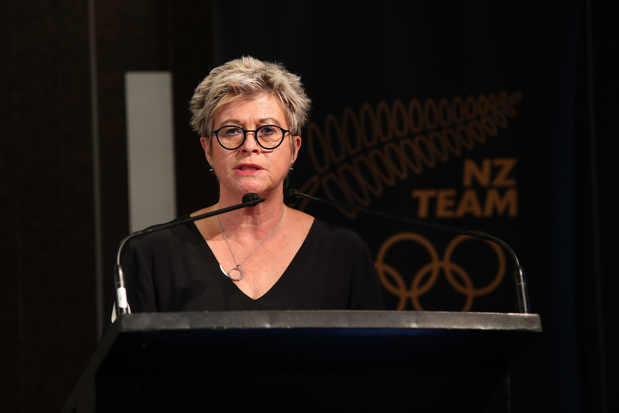 New Zealand Olympic Committee chief executive Kereyn Smith extended her congratulations to Campbell Wright ©Getty Images
