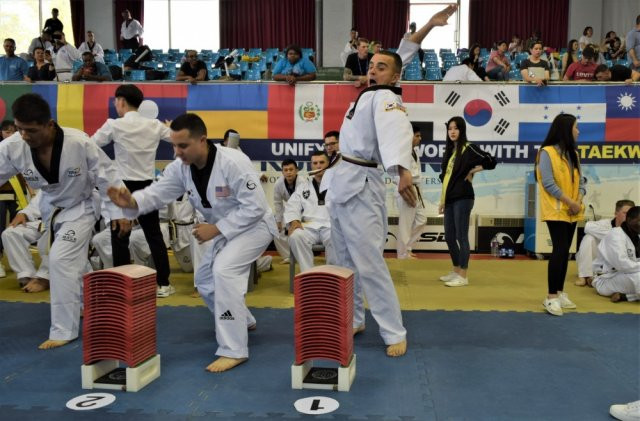 Eighth Army soldiers take part in Foreigners Taekwondo Culture Festival