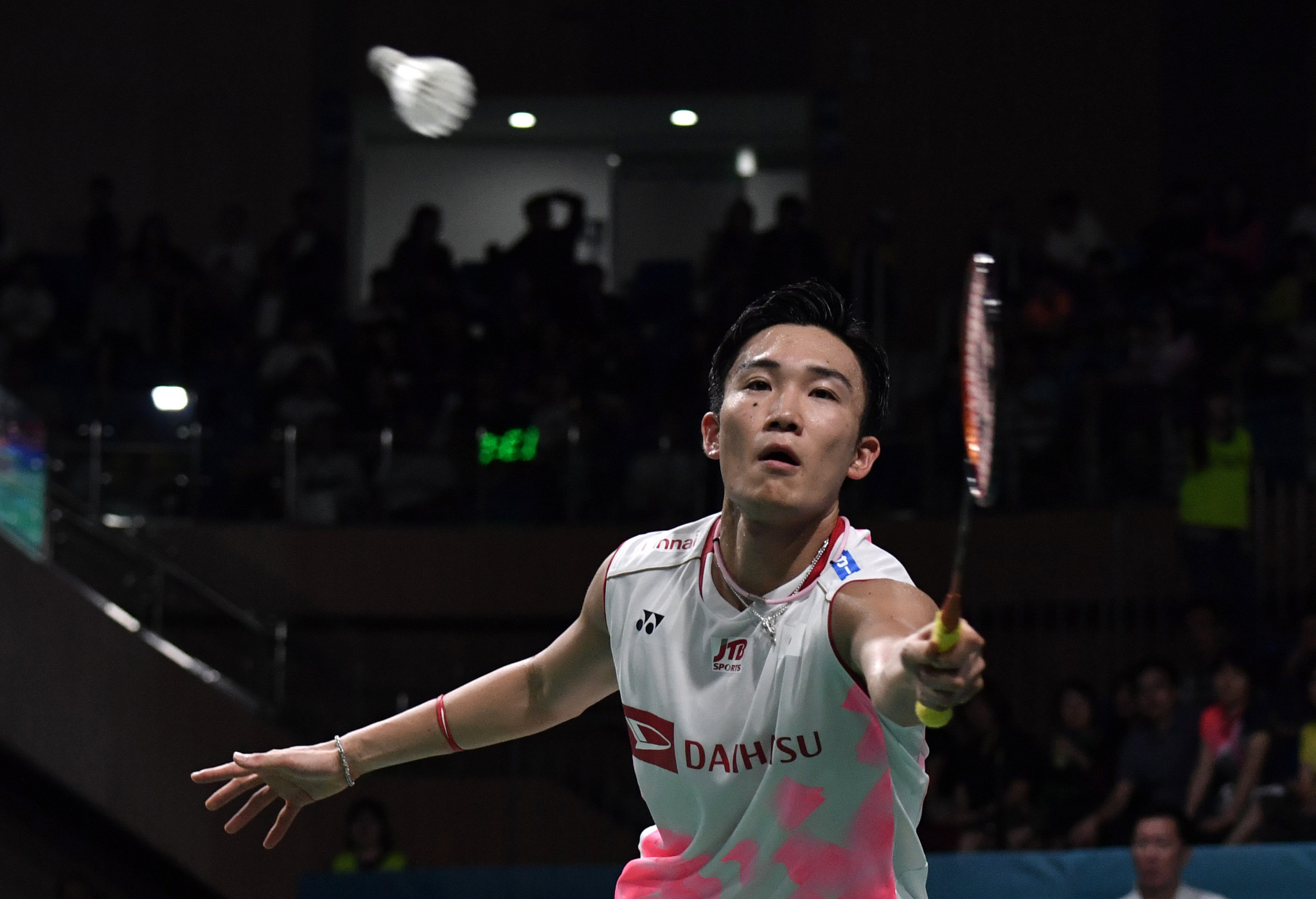Top seed Kento Momota of Japan is through to the second round of the men's singles event ©Getty Images