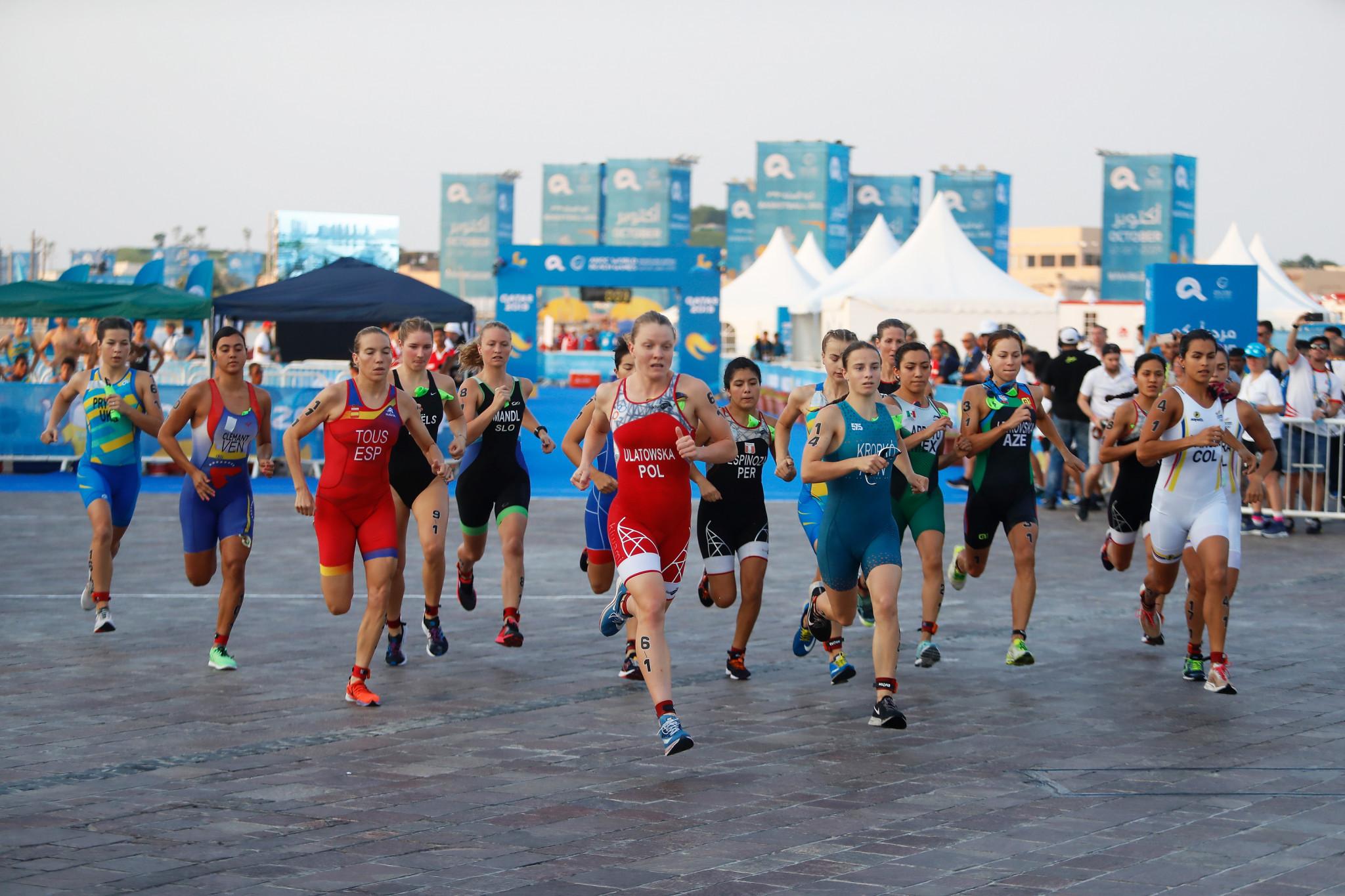 The aquathlon features a run-swim-run format ©ANOC