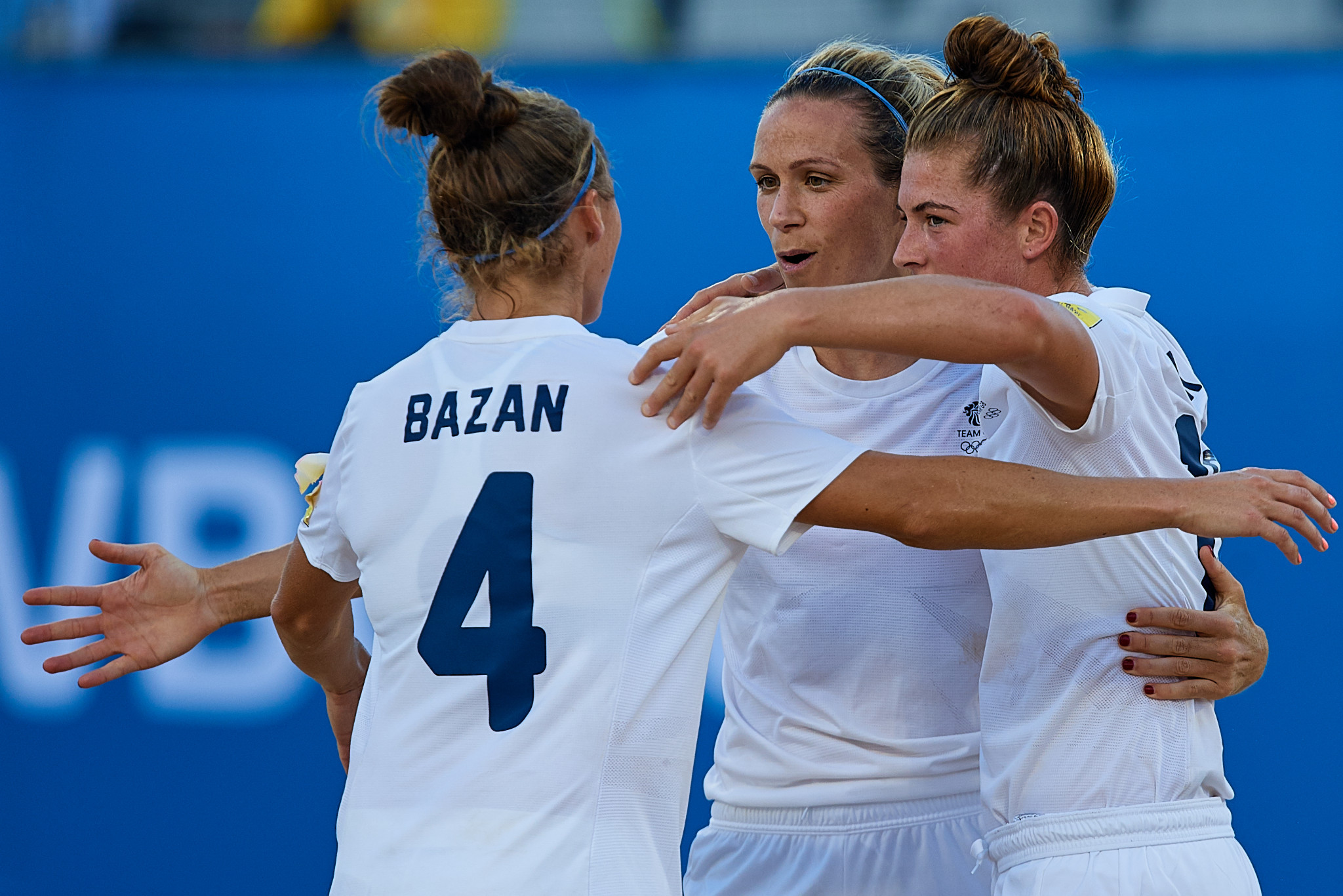 Britain battled back to beat Brazil in the women's beach soccer semi-finals ©ANOC