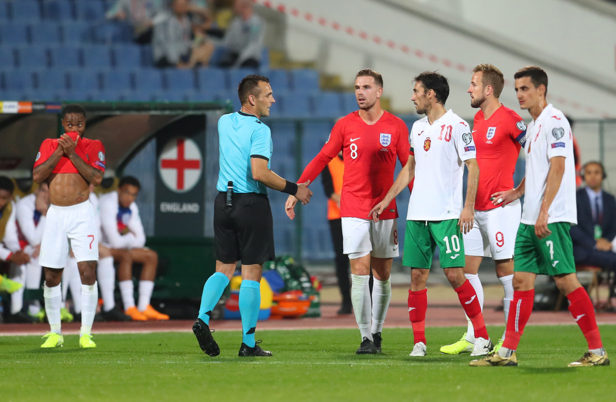 The qualifier between Bulgaria and England in Sofia was twice halted for racist abuse ©Getty Images