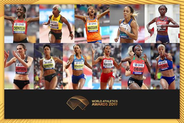 Kosgei and Hassan nominated for IAAF Female World Athlete of the Year