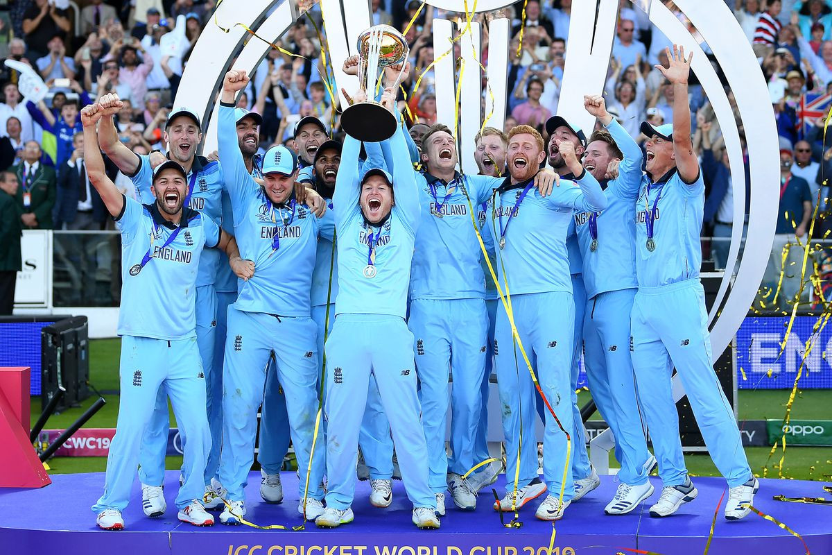 England celebrate winning the ICC Men's Cricket World Cup following an exciting victory over New Zealand ©Getty Images