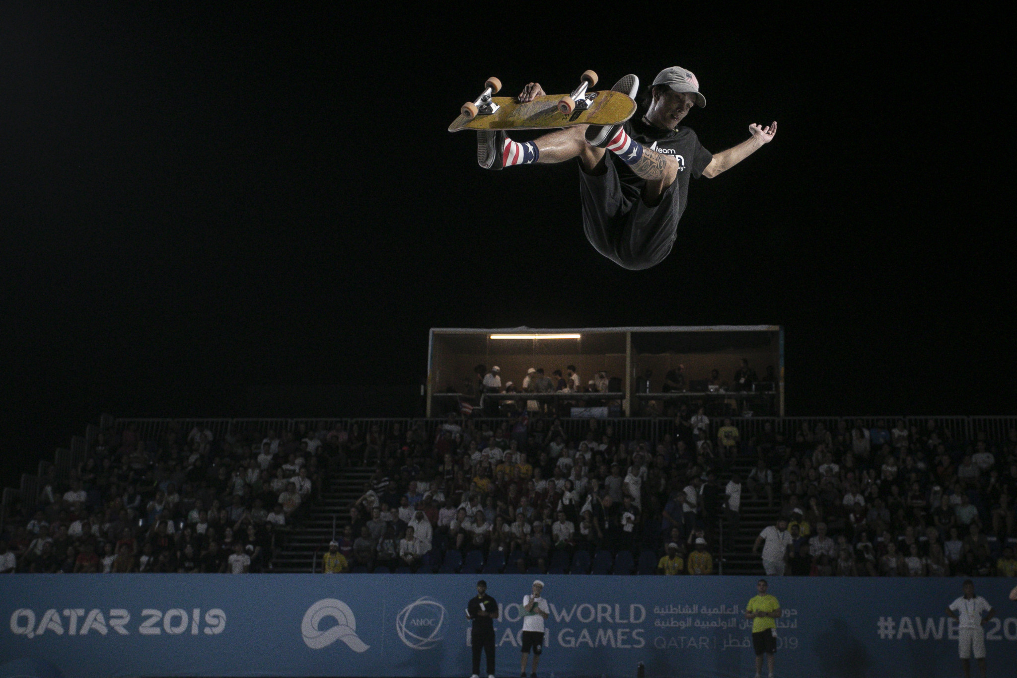 Skateboard competitions at the ANOC World Beach Games in Doha have been a spectacular success and increased excitemet for the sport's Olympic debut at Tokyo 2020 ©ANOC World Beach Games