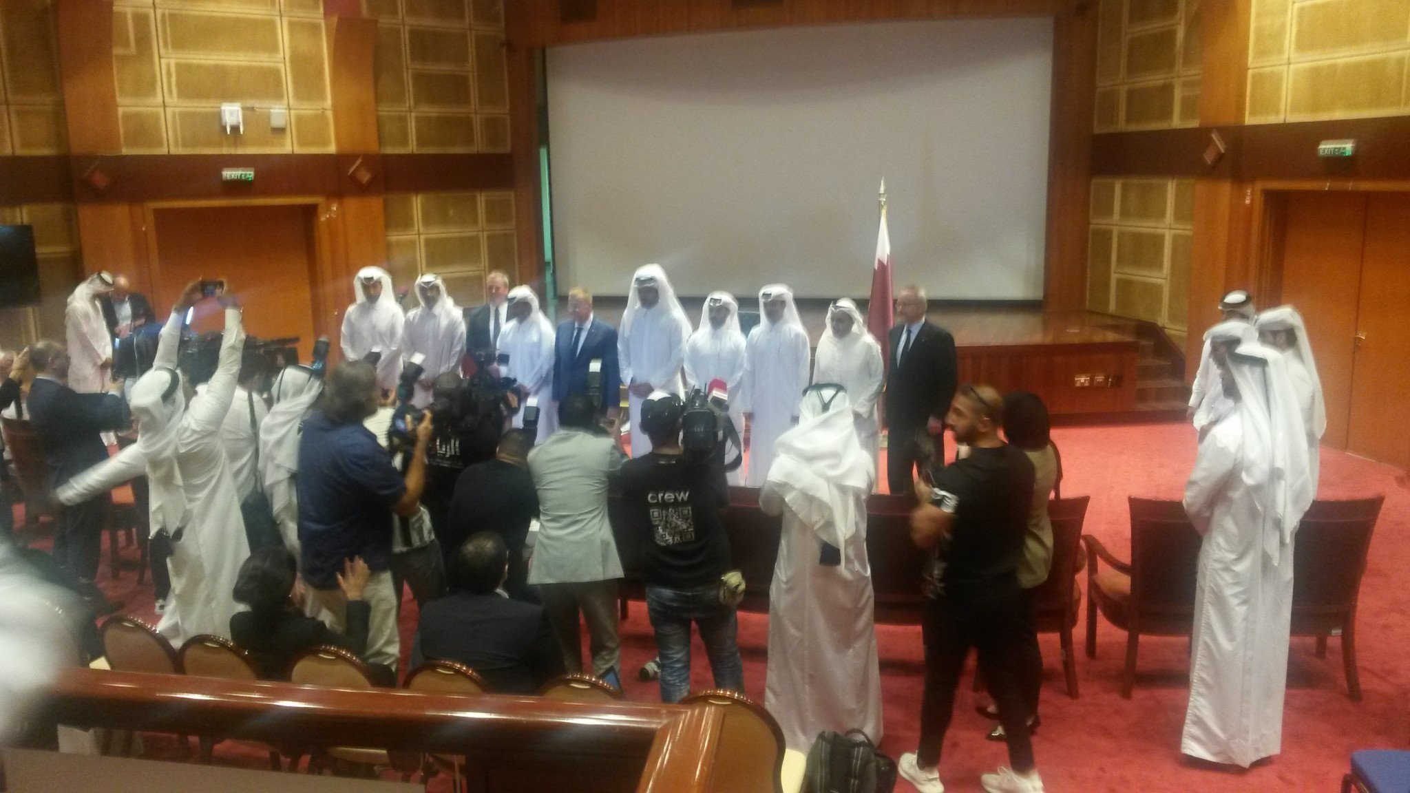 John Coates acclaimed a Memorandum of Understanding signed at the Qatar Olympic Committee HG today ©ITG