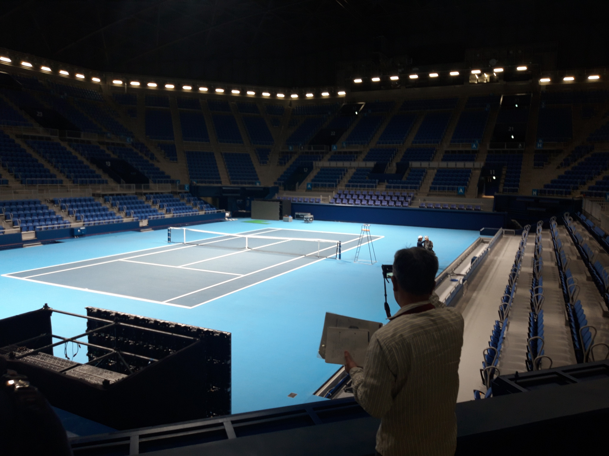 Ariake Colosseum in Ariake Tennis Park hosted the Rakuten Japan Open at the start of October ©ITG