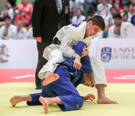 Russia's Konstantin Simeonidis came out on top in the men's under-60kg category ©IJF/Mayorova Marina