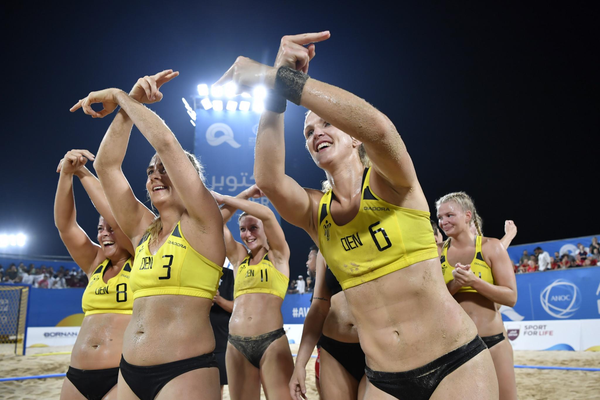 Denmark won the women's beach handball title ©ANOC