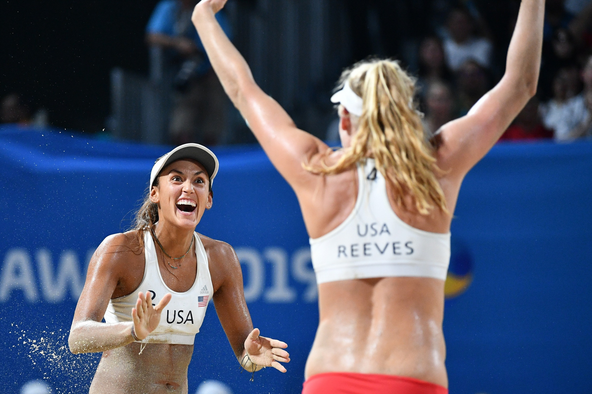 United States won the women's 4x4 beach volleyball title ©ANOC