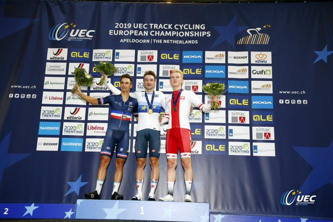 Viviani takes men's elimination race win at European Track Cycling Championships
