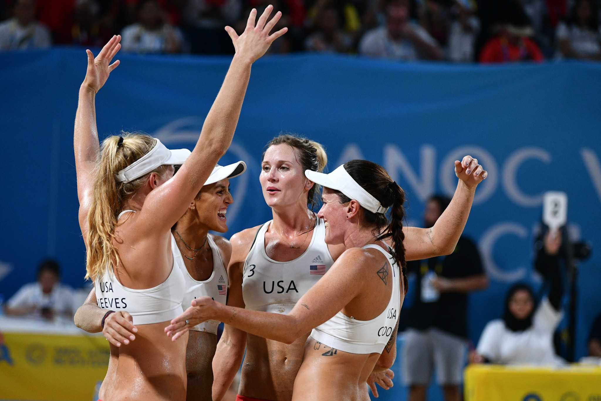 The United States beat Brazil in the women's final ©ANOC