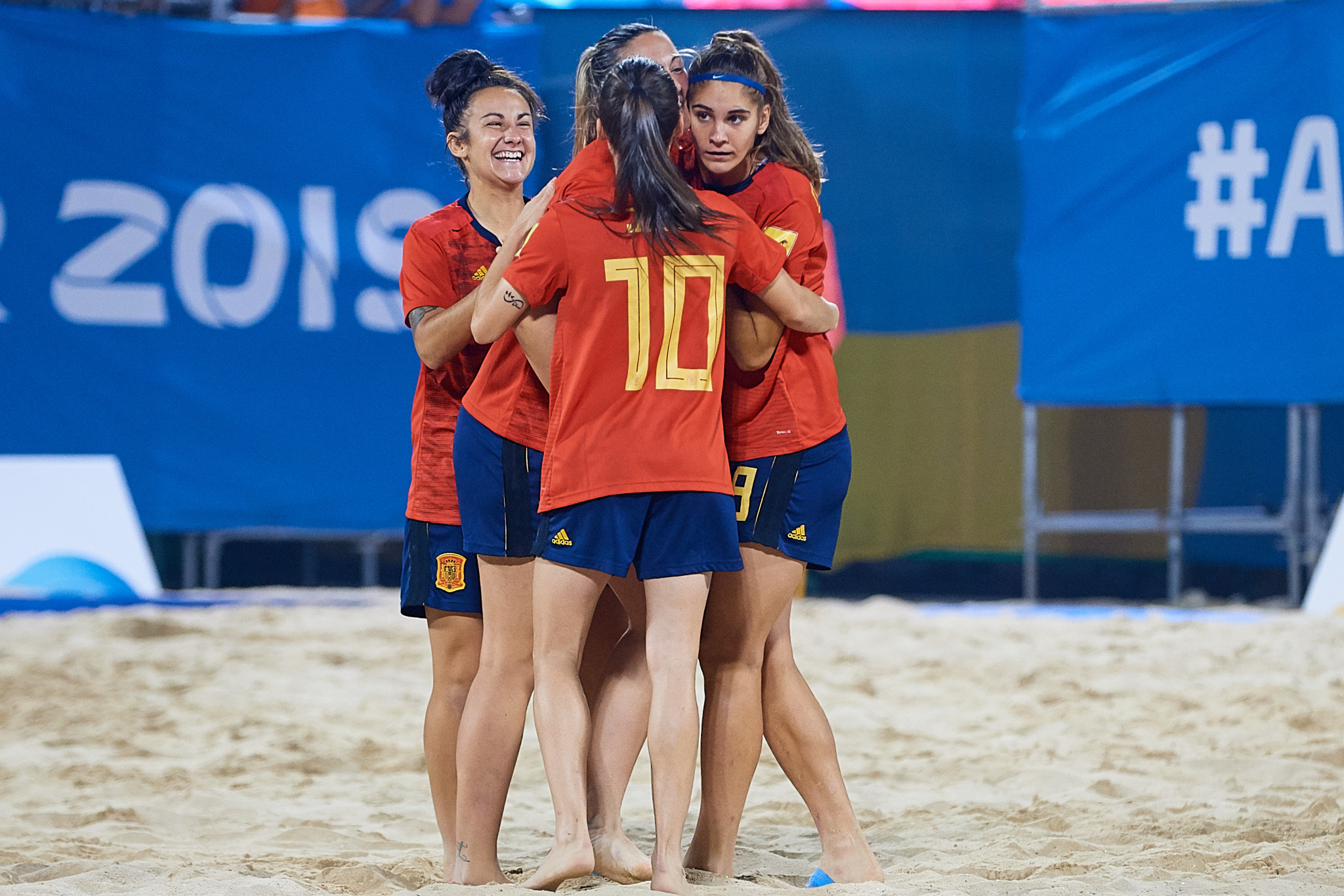 Spain edged Britain to win the women's beach soccer gold ©ANOC