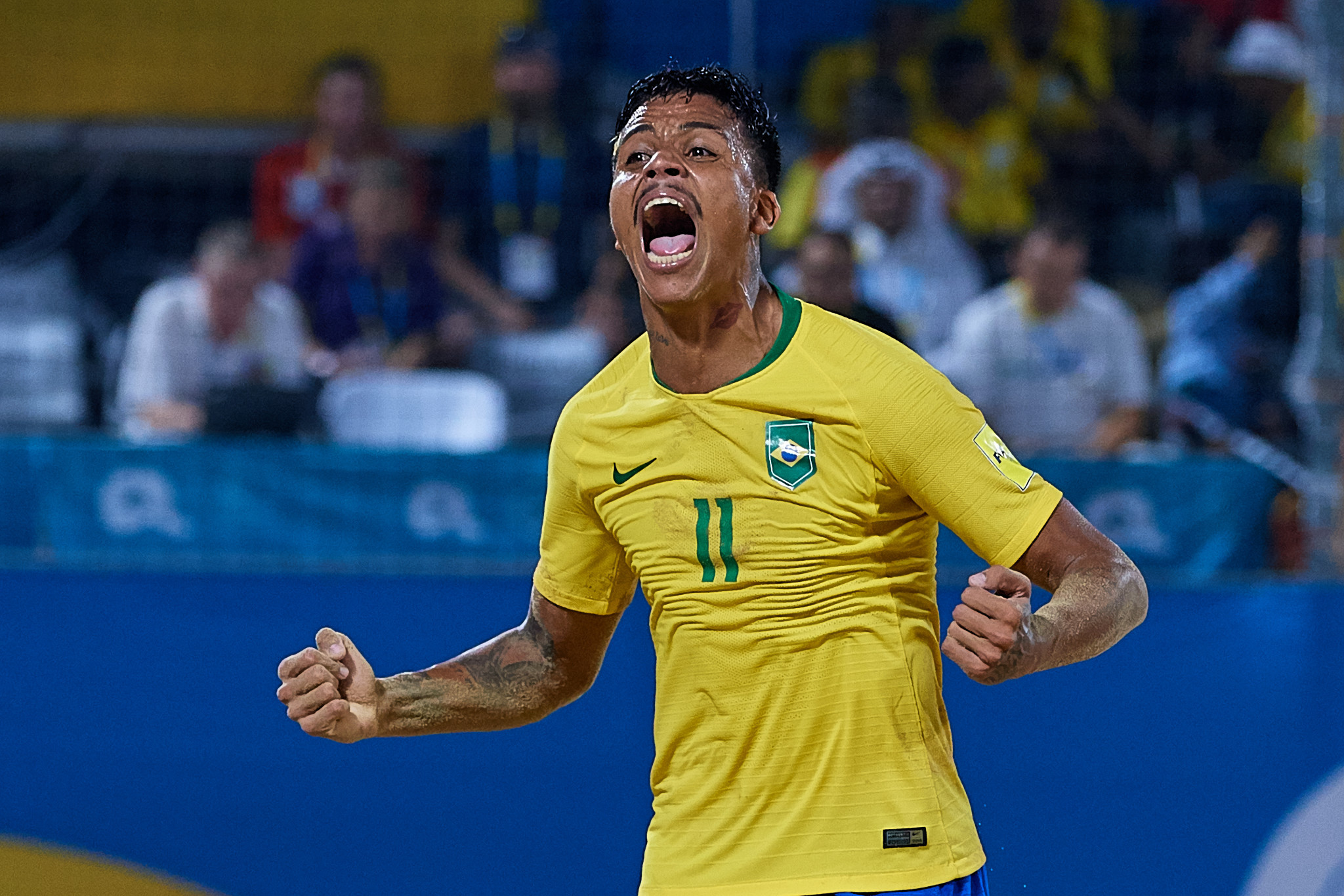 Brazil saw off Russia to win the men's beach soccer gold ©ANOC