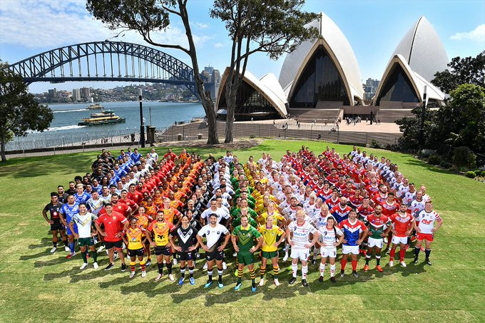 Twelve teams have gathered in New South Wales for the inaugural Downer Rugby League World Cup 9s ©NRL