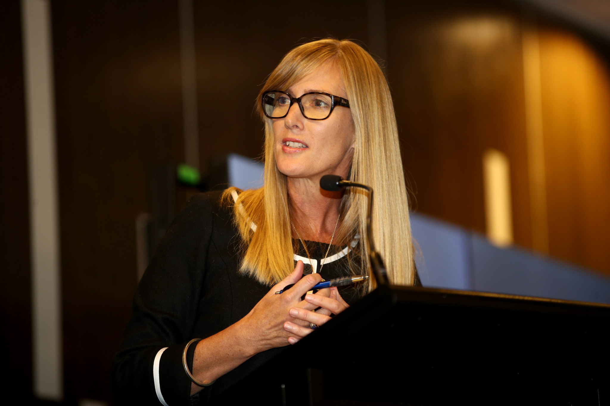 Public affairs and communications director at New Zealand Olympic Committee, Ashley Abbott, is calling for more balanced reporting of women in sport ©NZOC