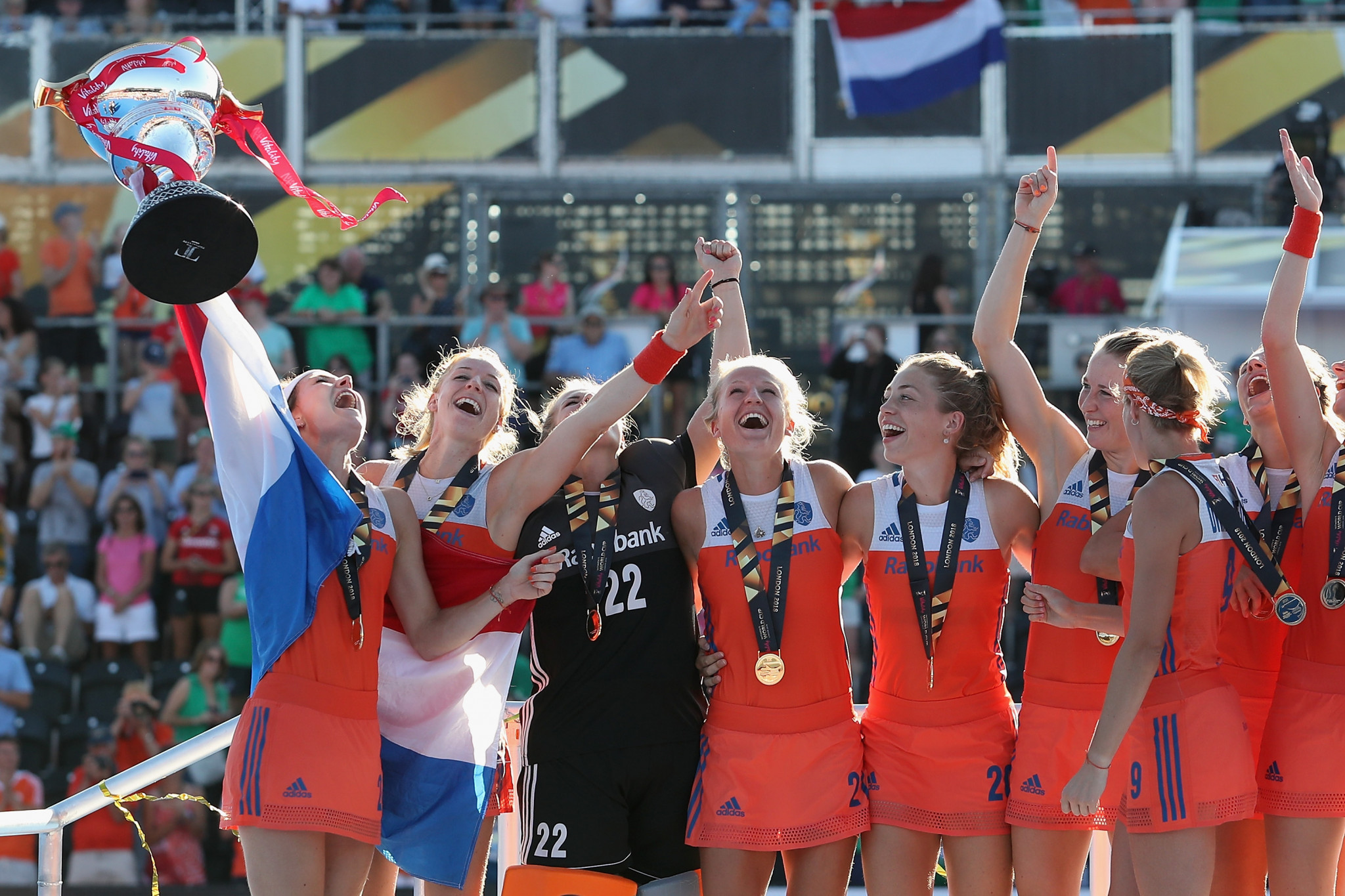 The Netherlands triumphed at the 2018 women's Hockey World Cup in England ©Getty Images