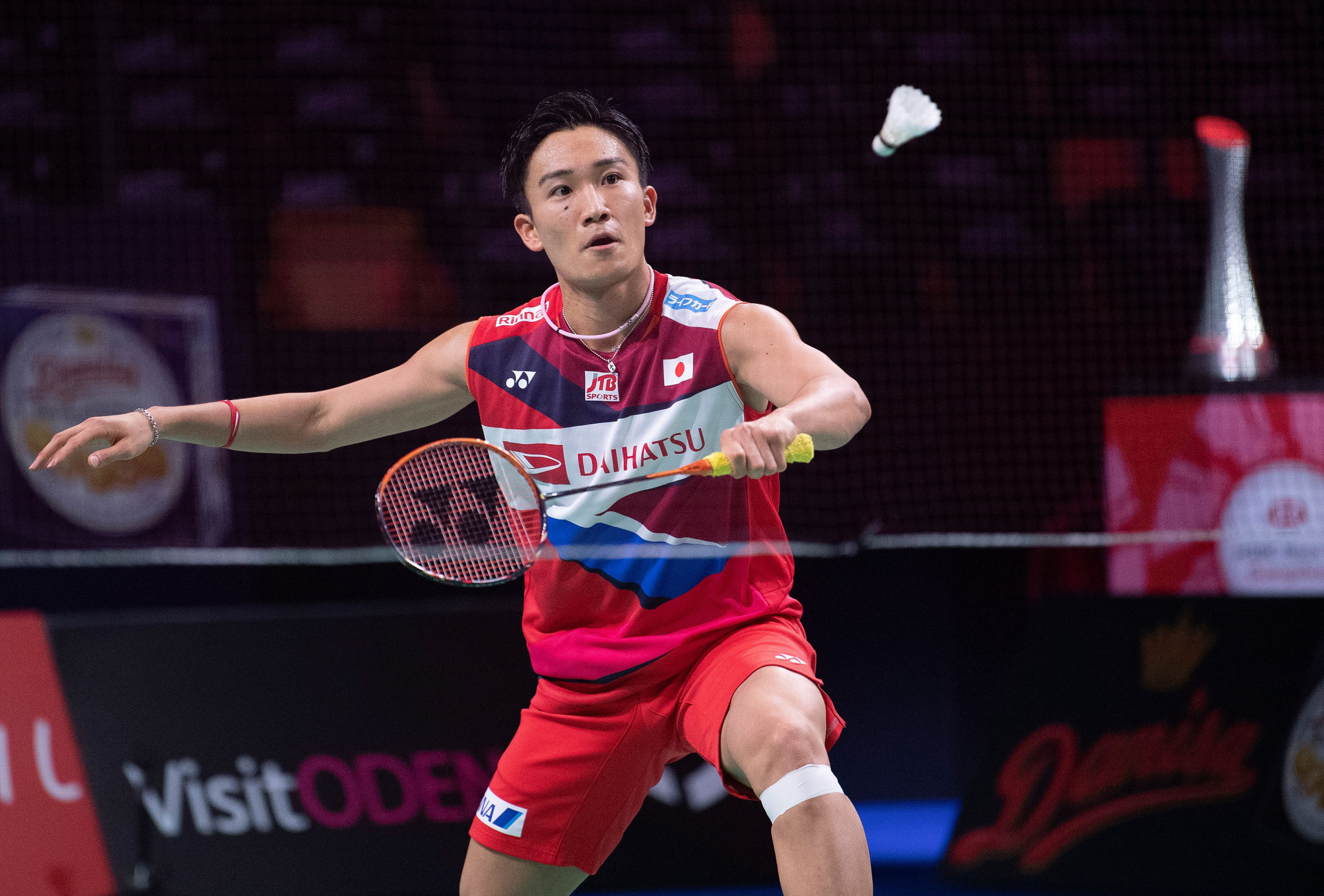 Kento Momota was in blistering form today at the BWF Denmark Open ©Getty Images