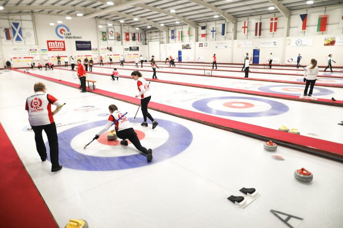 Round-robin action concluded today at the World Mixed Curling Championship in Aberdeen ©WCF