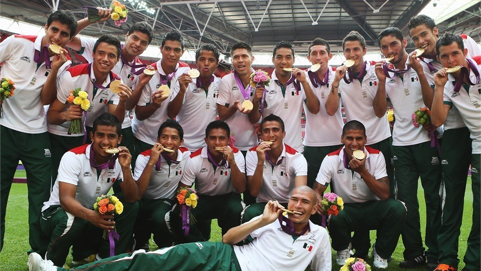 If Mexico are banned from Rio 2016 then the country's men's football mean will not be able to defend the title they won at London 2012 ©AFP/Getty Images