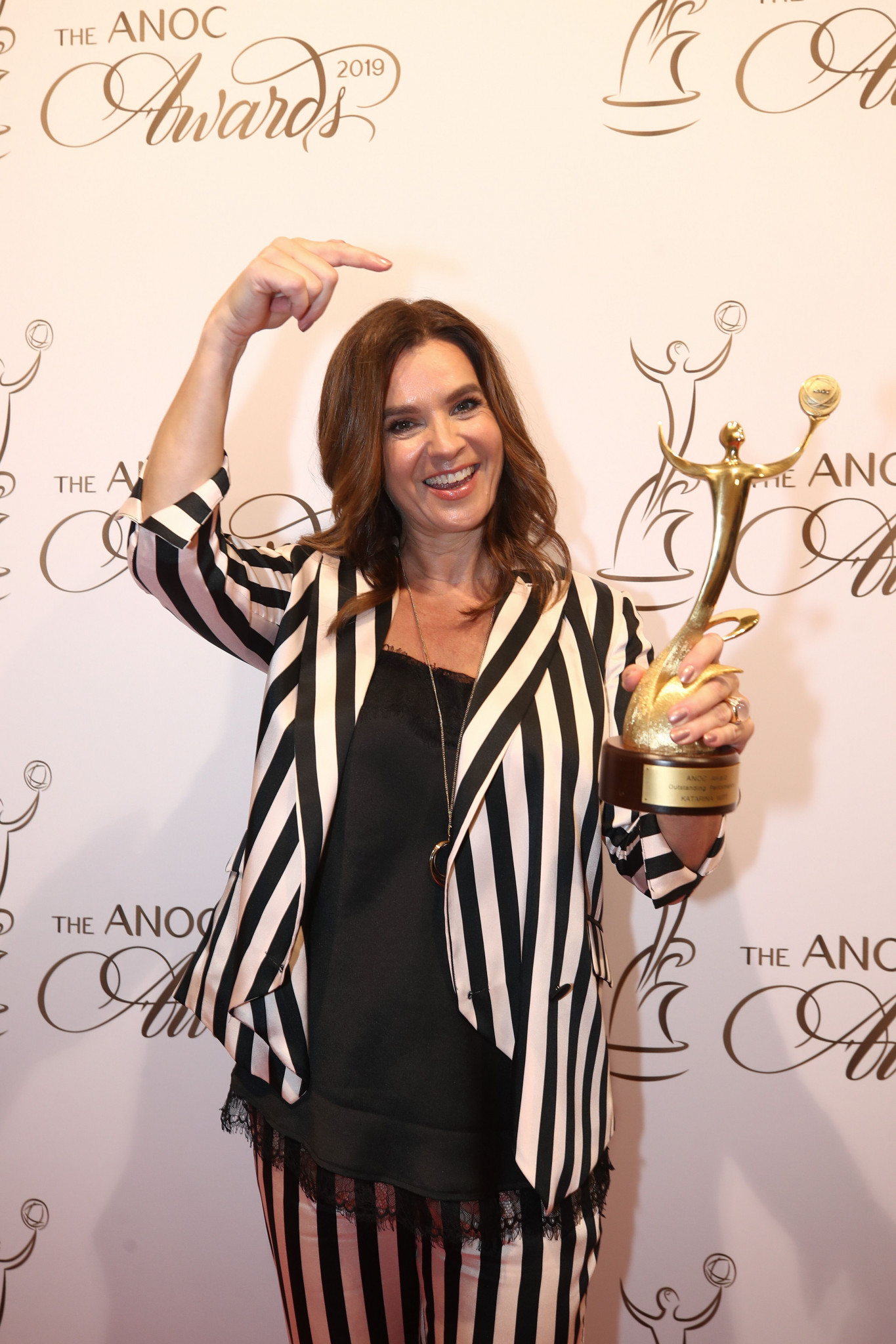 Figure skater Katarina Witt won the outstanding performance prize ©ANOC