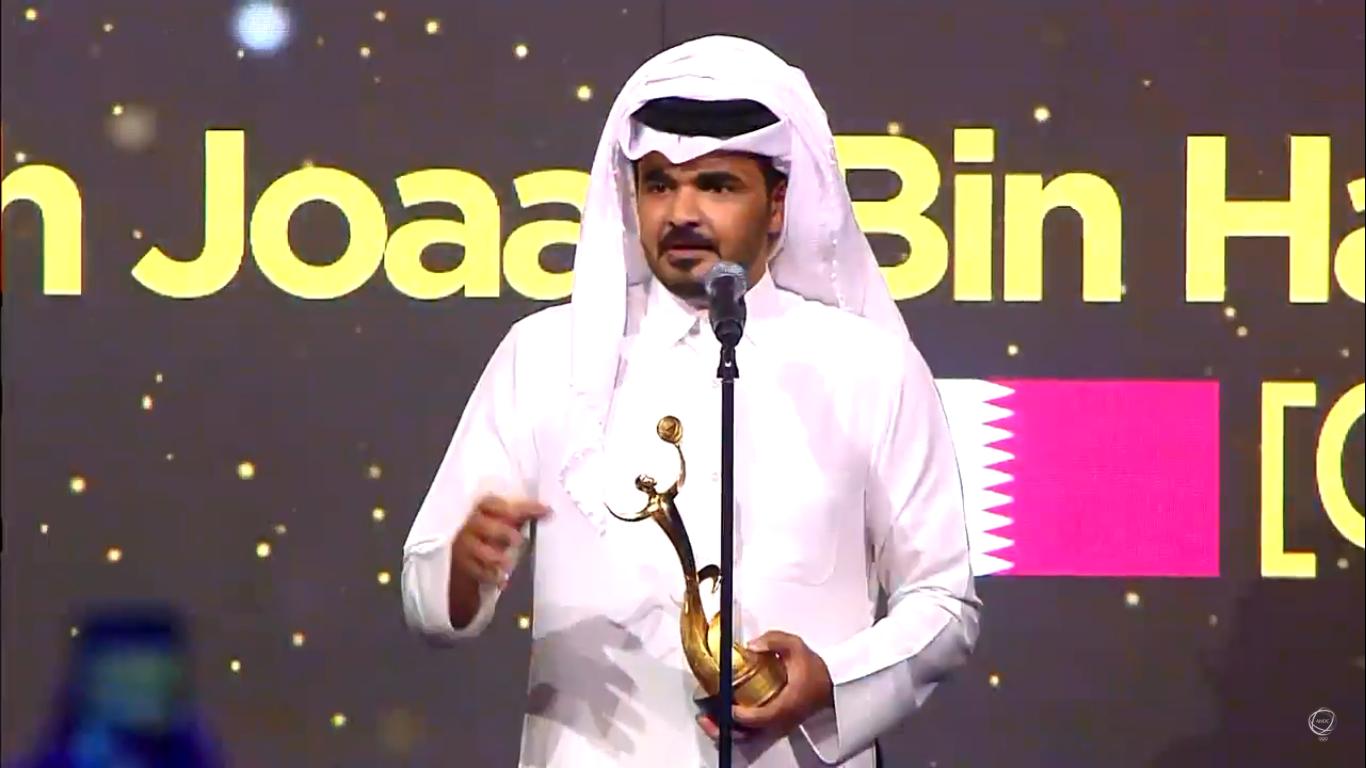 Qatar's Sheikh Joaan Bin Hamad Bin Khalifa Al-Thani won the Contribution to the Olympic Movement award ©ANOC