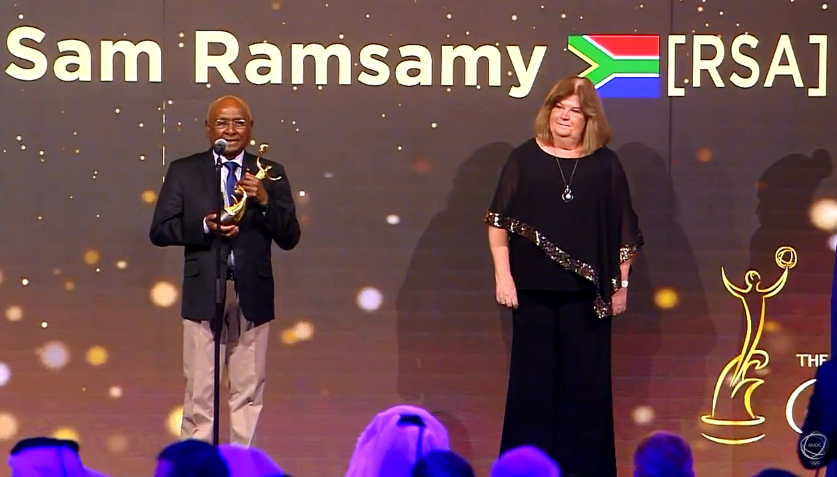 Veteran anti-apartheid campaigner Ramsamy receives ANOC's Lifetime Achievement award