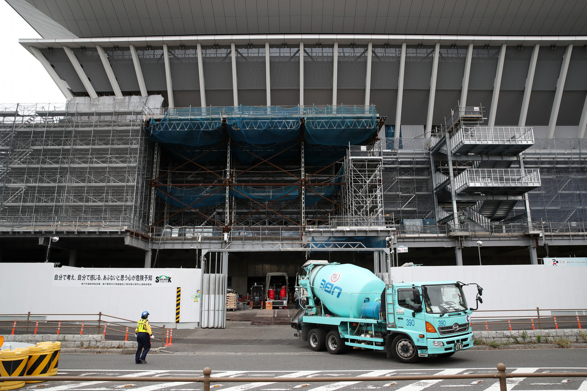 Construction continues at Tokyo 2020 venues with just nine months to go until the Olympic Games begin ©Getty Images