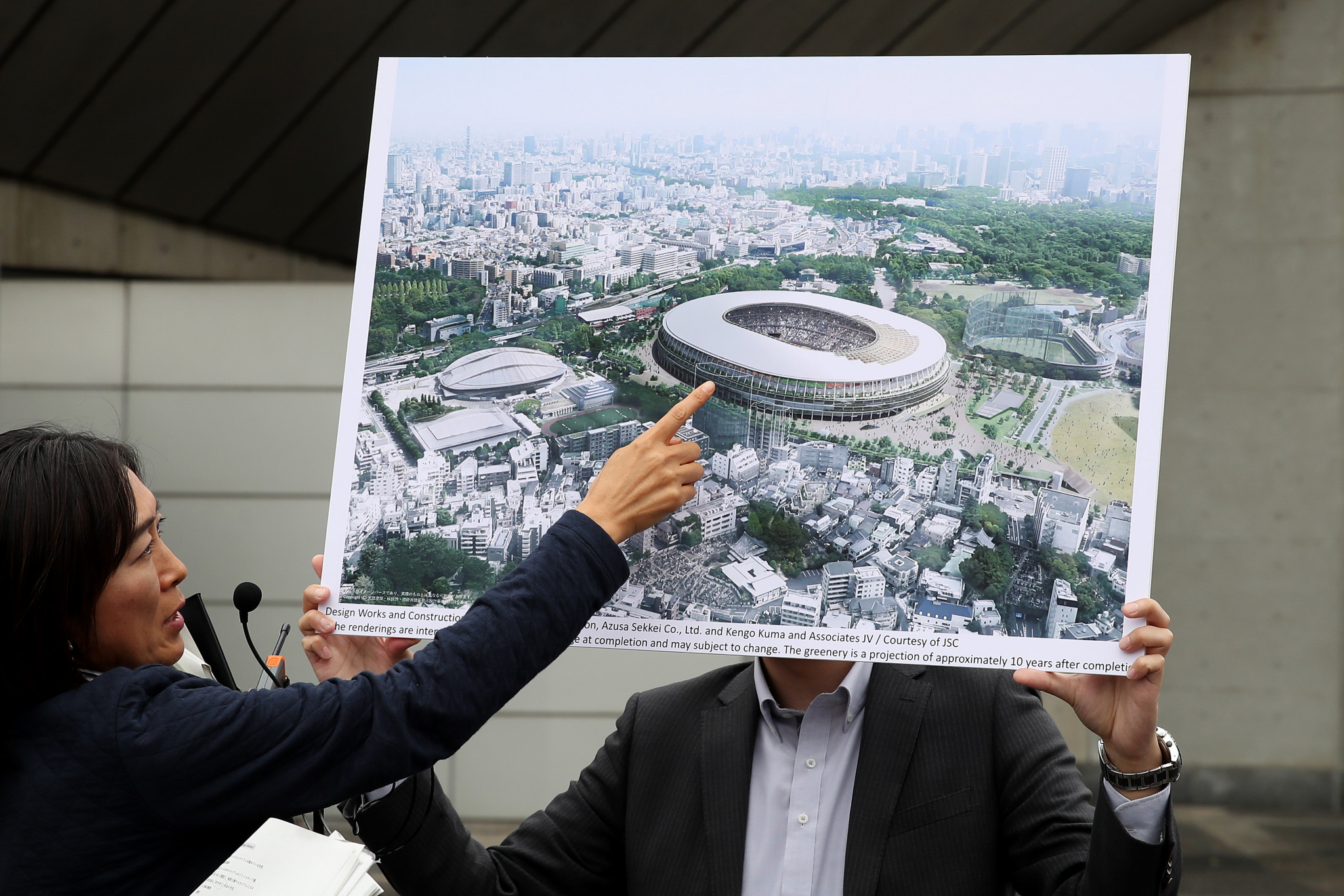Tokyo 2020 organisers told journalists at the World Press Briefing that construction at the Olympic New National Stadium would be finished by the end of November ©Getty Images