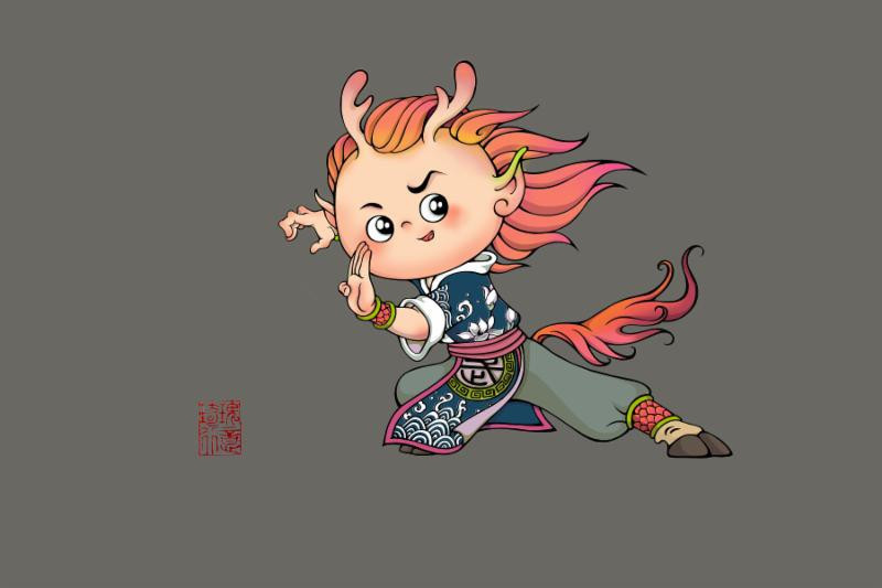 Little Haihai, the event's mascot, will be cheering on the athletes during the World Wushu Championships ©IWUF