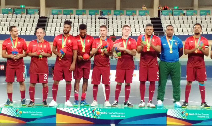 Portugal won the futsal event at the INAS Global Games ©INAS