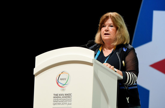 ANOC secretary general Gunilla Lindberg spoke about the inaugural World Beach Games ©ANOC