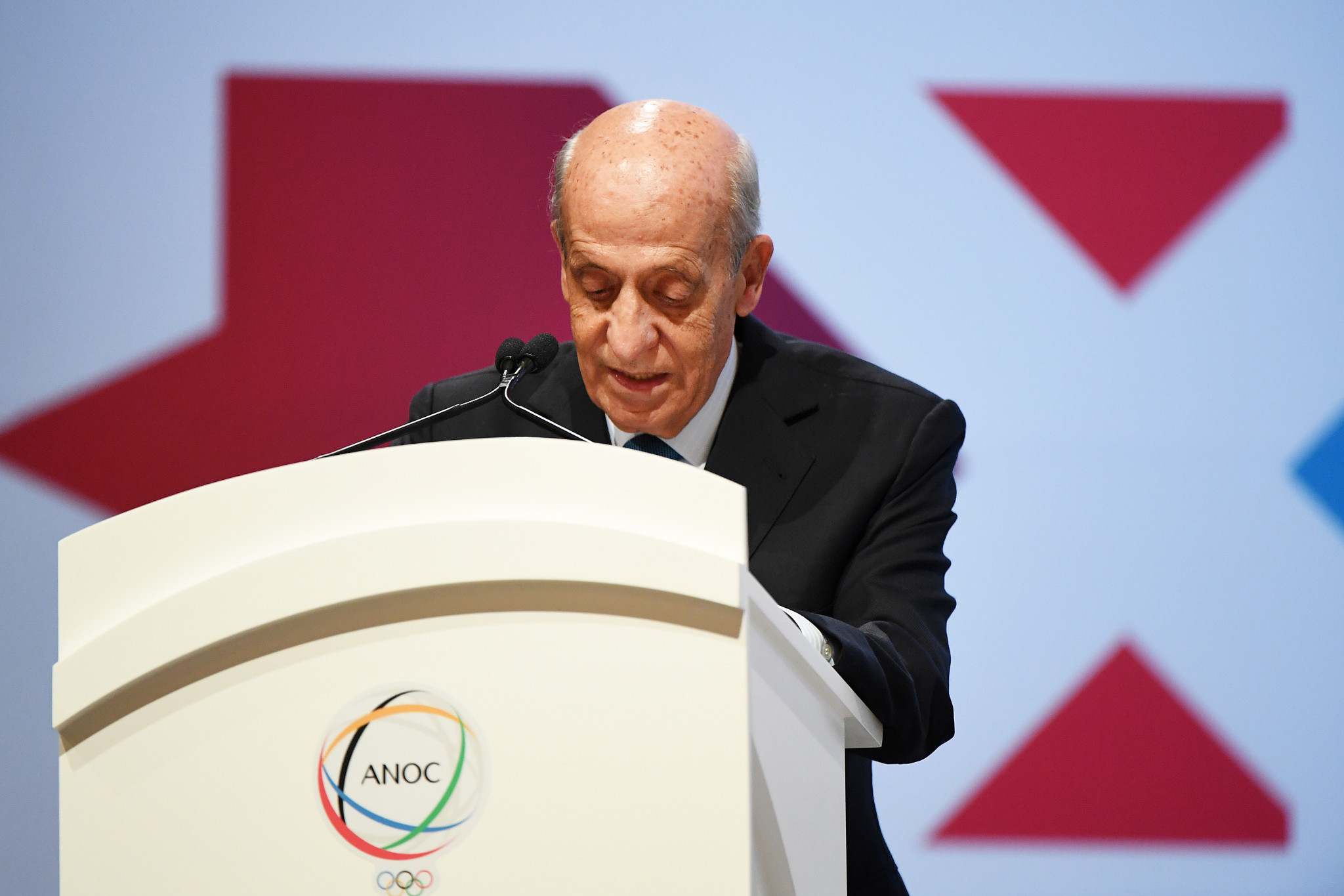 ANOC International Relations Commission chairman Julio Maglione addressed the General Assembly ©ANOC