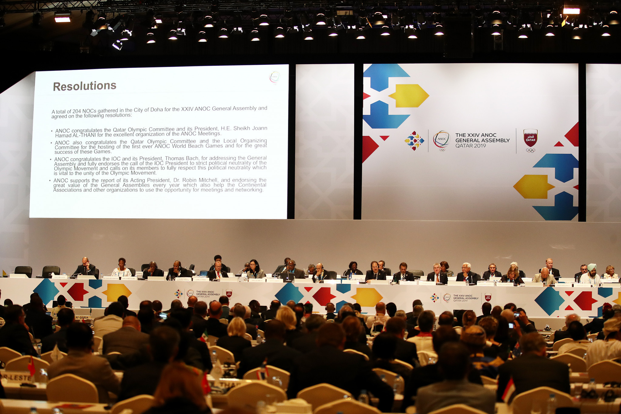 Various resolutions were passed ©ANOC