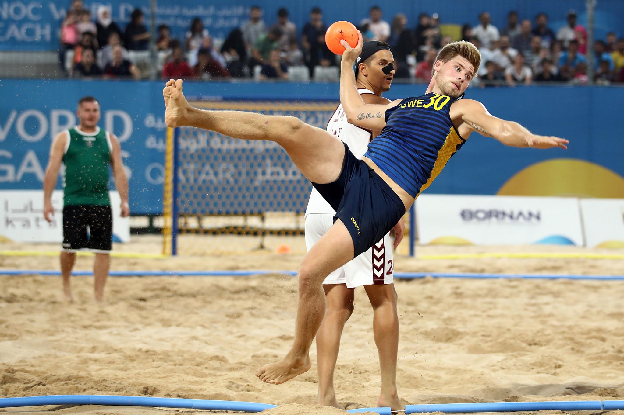 Les premiers Jeux mondiaux des plages de l'ACNO se sont terminés ici mercredi © Getty Images  Lindberg espère que le début de l'année 2020 sera annoncé lors du deuxième hôte des Jeux mondiaux sur la plage de l'ACNO UeoYQV7XVFE2VO8y