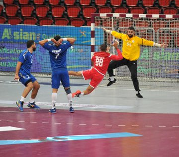 Bahrain beat Kuwait in their Group B opener at the Asian Men's Handball Olympic Qualification Tournament for Tokyo 2020 ©Asian Handball Federation/Twitter