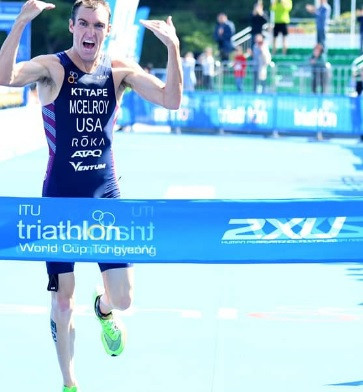 McElroy and Dodet earn victories at Triathlon World Cup in South Korea