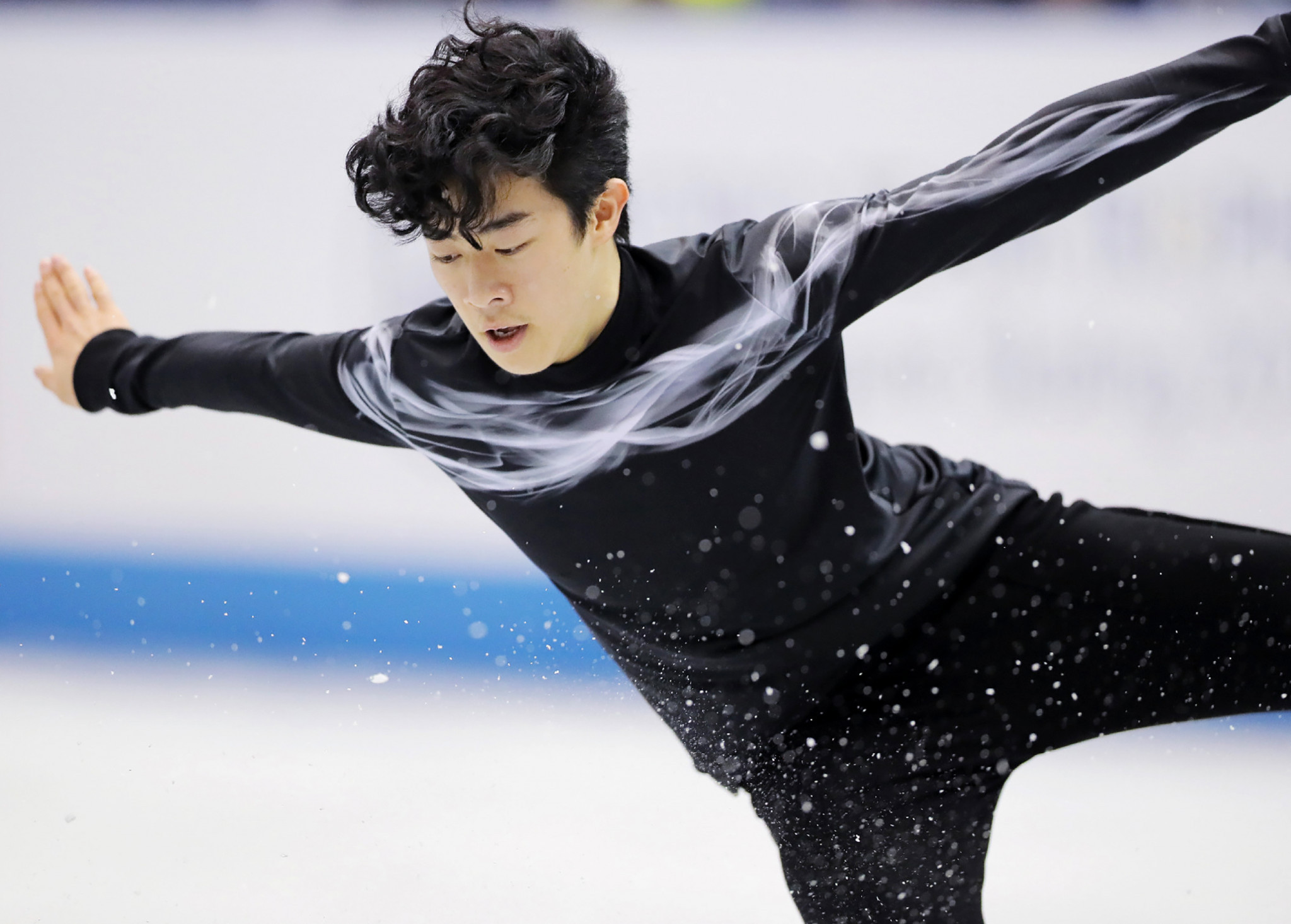 Nathan Chen of the United States leads the men's event at Skate America ©Getty Images