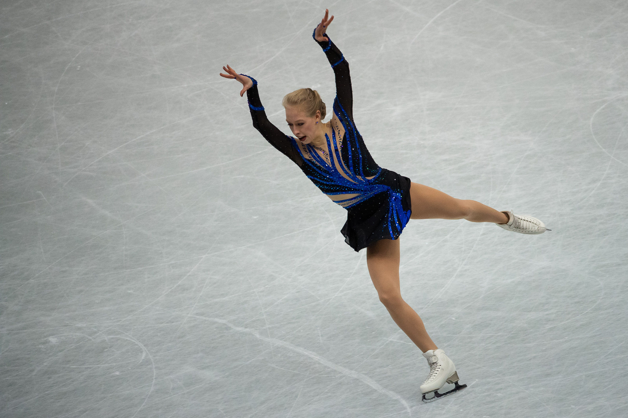 Bradie Tennell of the United States scored the most points in the women's programme ©Getty Images