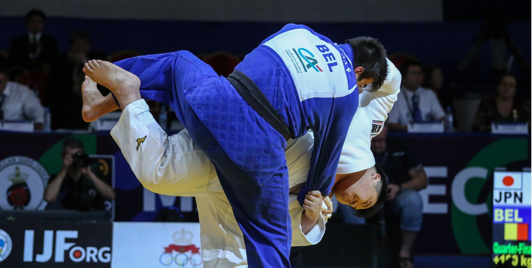 Sosuke Matsumura claimed the gold medal in the men's over-100kg category ©IJF/Di Feliciantonio Emanuele