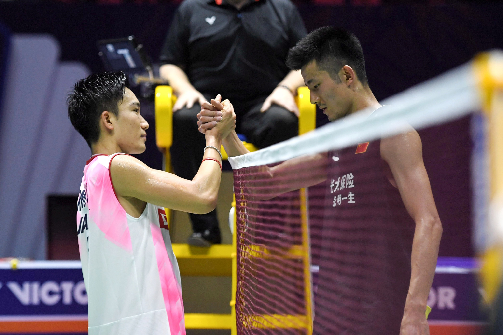 Kento Momota will face Chen Long in the men's singles final at the BWF Denmark Open in Odense ©Getty Images