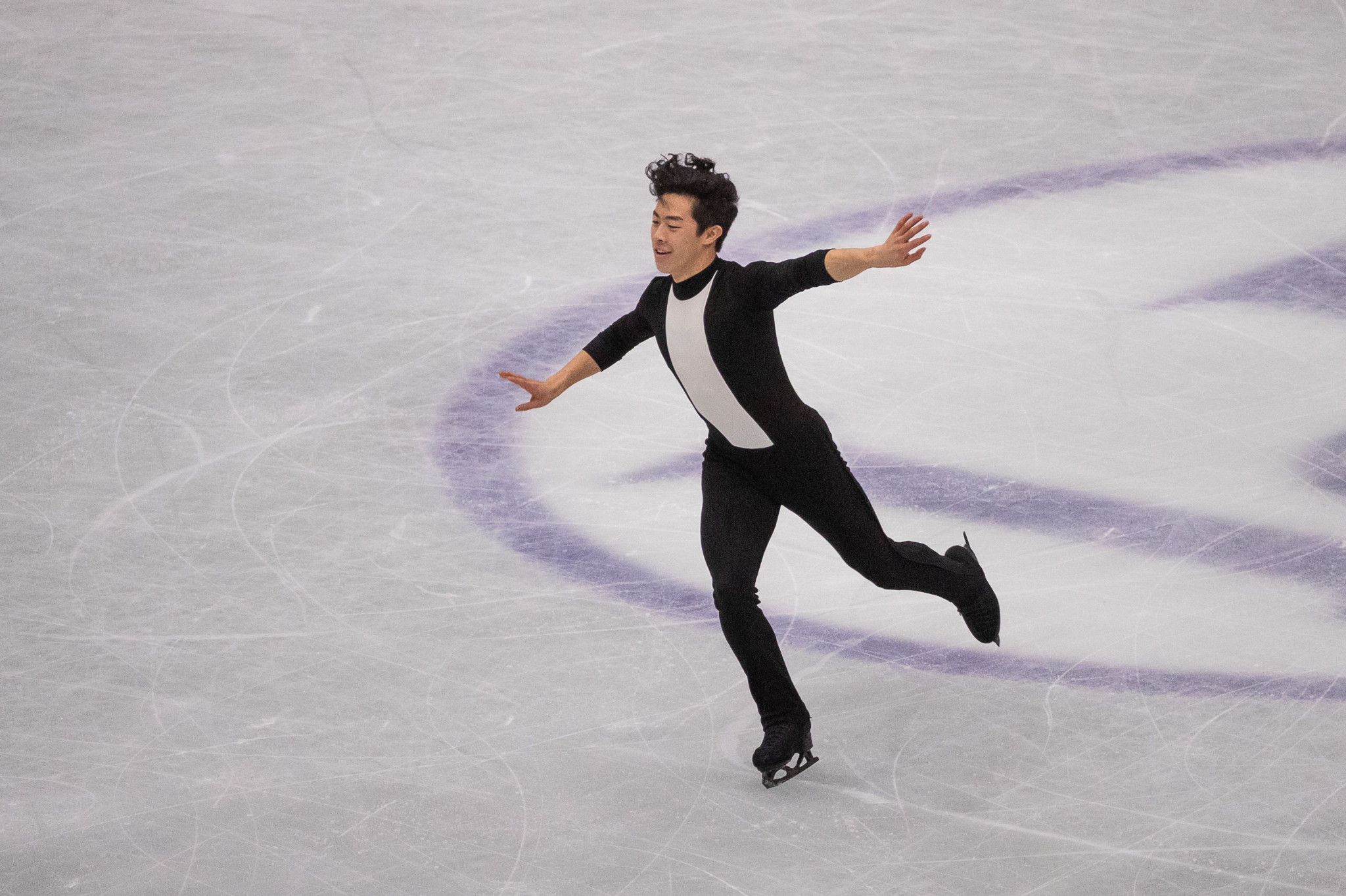 Nathan Chen of the United States claimed his third Skate America title in Las Vegas ©Getty Images